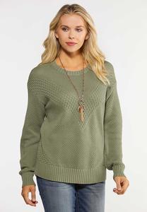 Plus Size Stitch Skimmer Sweater