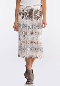 Soft Animal Slip Midi Skirt