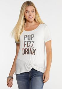 Plus Size Pop Fizz Drink Tee
