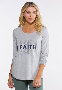 Plus Size Faith Tee