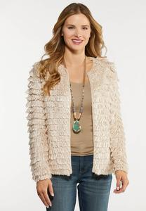 Plus Size Shaggy Skimmer Cardigan
