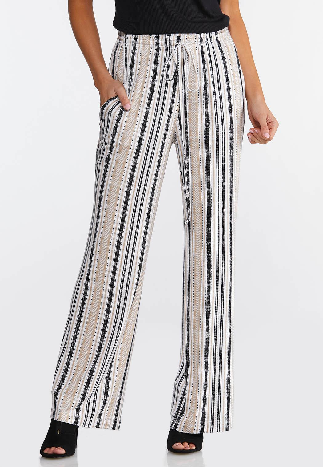 Neutral Striped Pants