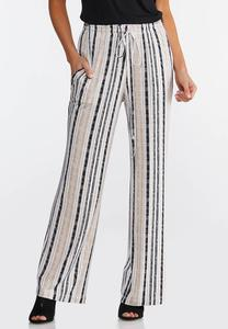 Neutral Striped Pants
