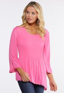 Pleated Asymmetrical Top