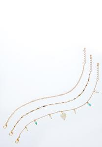 Tiny Charm Anklet Set