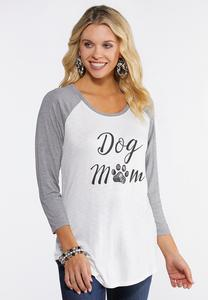 Plus Size Dog Mom Graphic Top