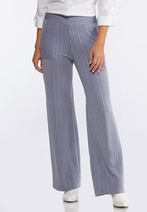 Petite Stripe Knit Pants
