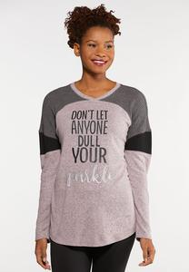Plus Size Dull Your Sparkle Top