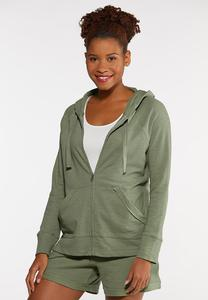 Plus Size Knit Active Hoodie
