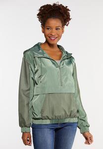 Plus Size Half Zip Mesh Jacket