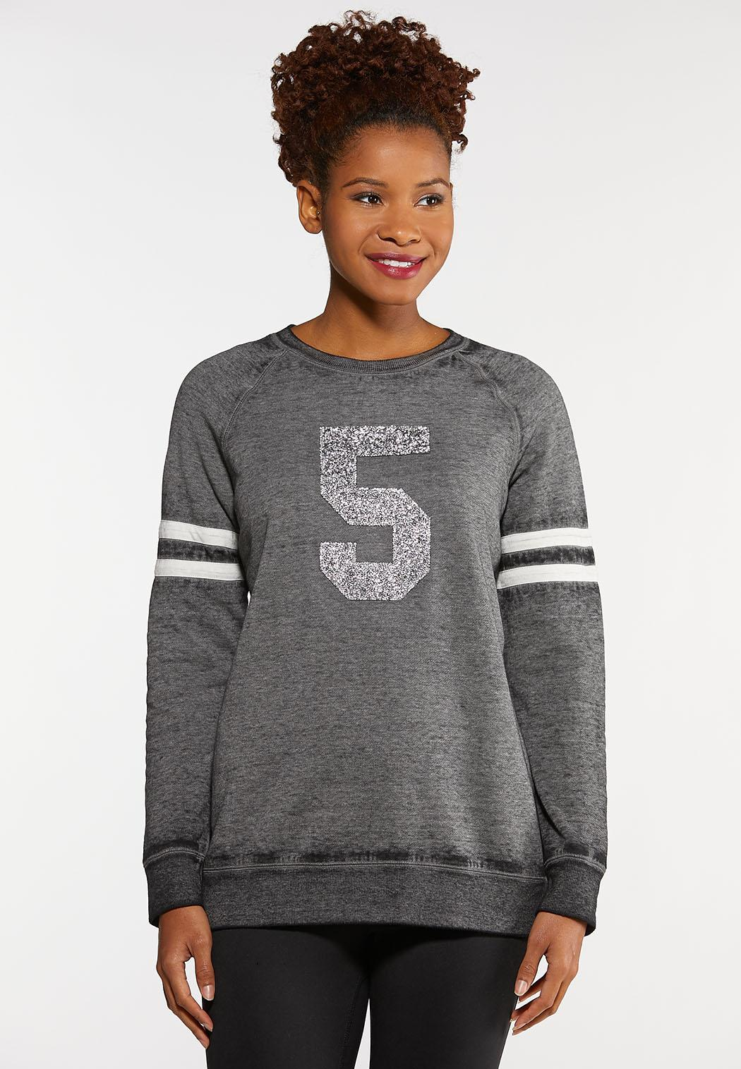 Plus Size Sport And Sparkle Sweatshirt Tops Cato Fashions