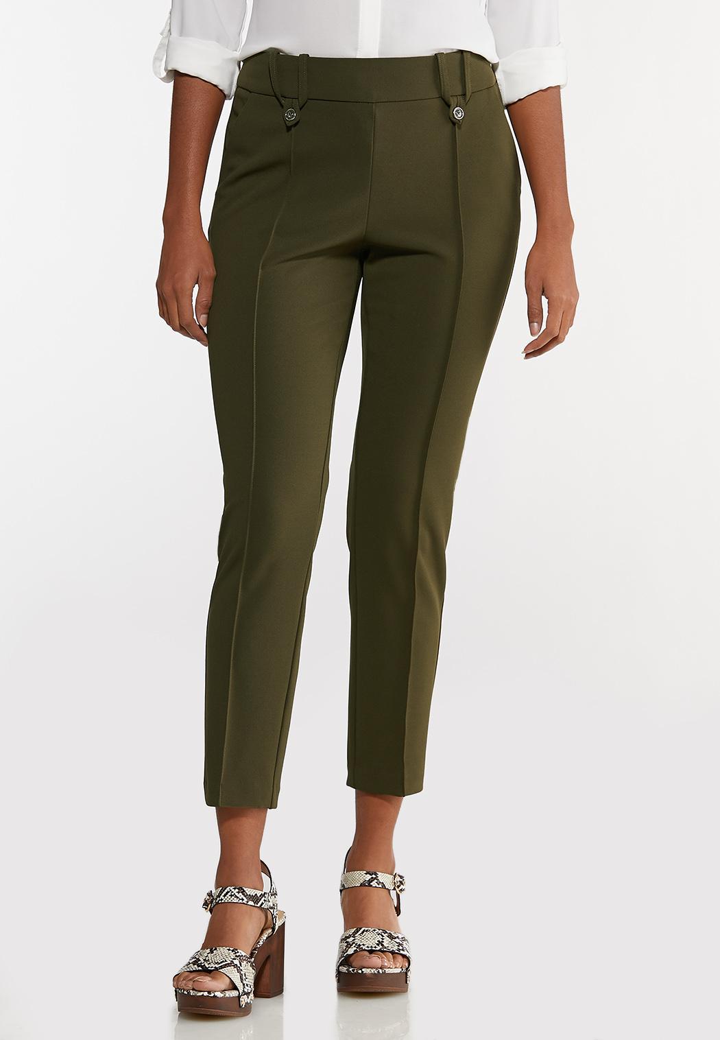 Slim Button Loop Pants