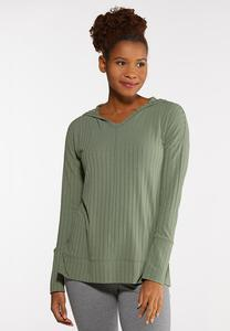 Hooded Hacci Top