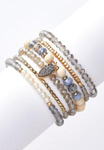 Multi Bead Stretch Bracelet Set