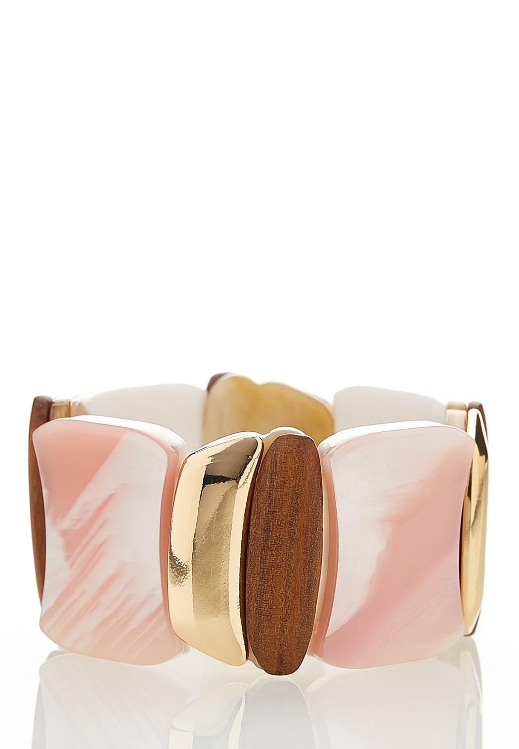 Rose Resin Stretch Bracelet