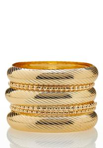 Gold Bangle Bracelet Set