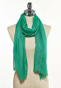 Metallic Thread Solid Oblong Scarf