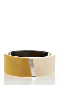 Wide Acrylic Bangle Bracelet