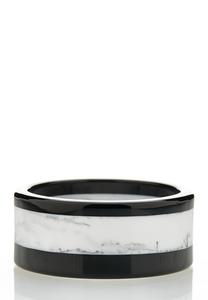 Black White Bangle Bracelet