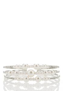 Pearl Flex Cuff Bracelet