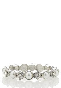 Pearl Stone Stretch Bracelet