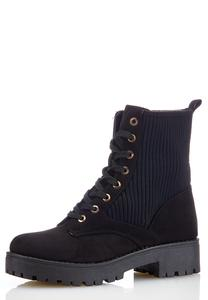 Stretch Back Combat Boots