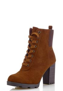 Stretch Cuff Lug Boots