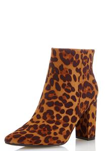 Leopard Pointy Toe Booties