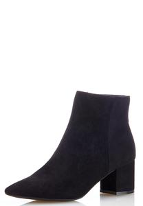 Faux Suede Block Heel Booties