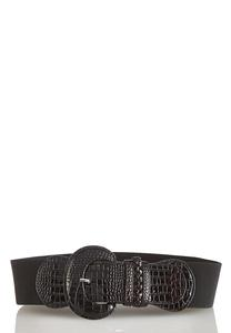 Croc Buckle Stretch Belt