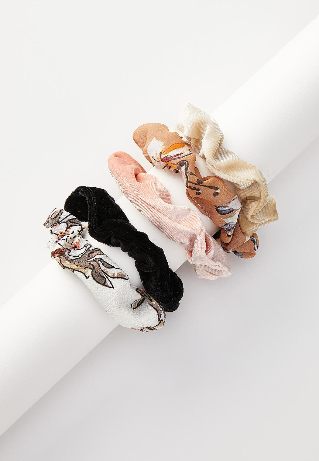 Mixed Floral Scrunchie Set