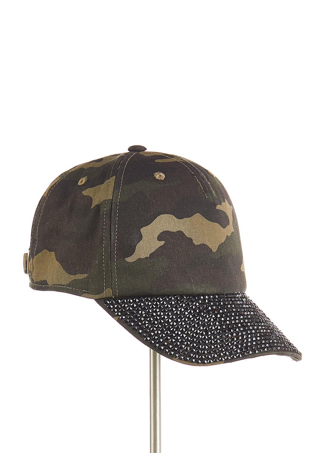 Camo Rhinestone Hat