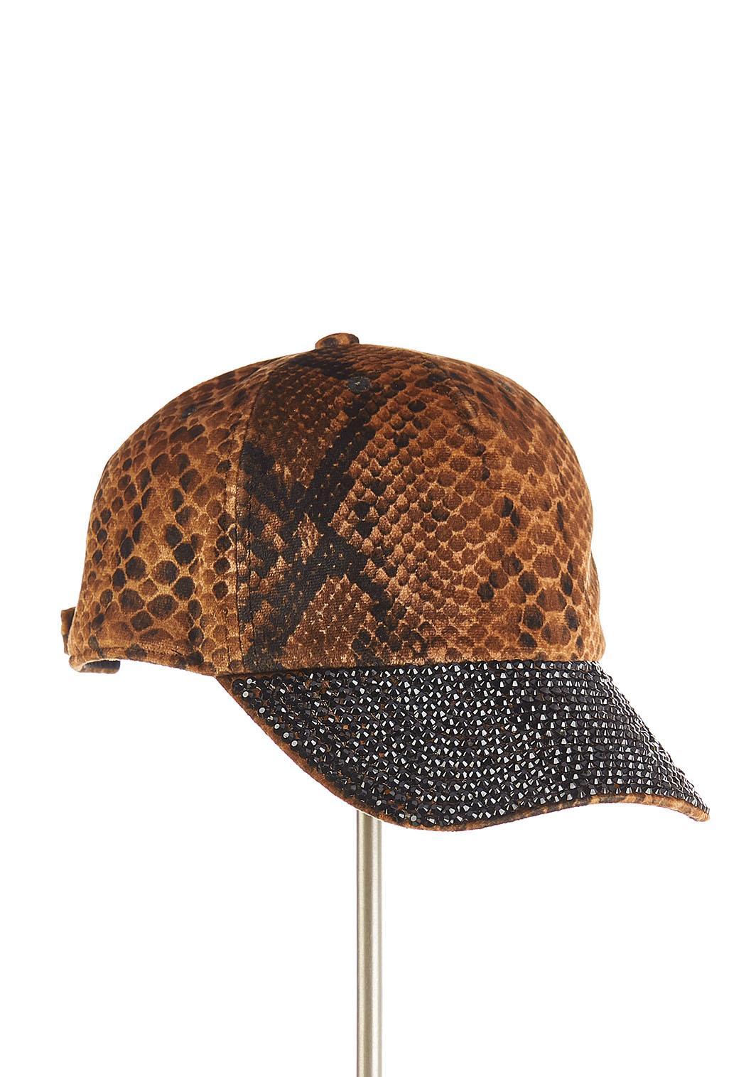 Snakeskin Rhinestone Hat