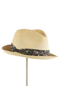 Floral Band Fedora Hat