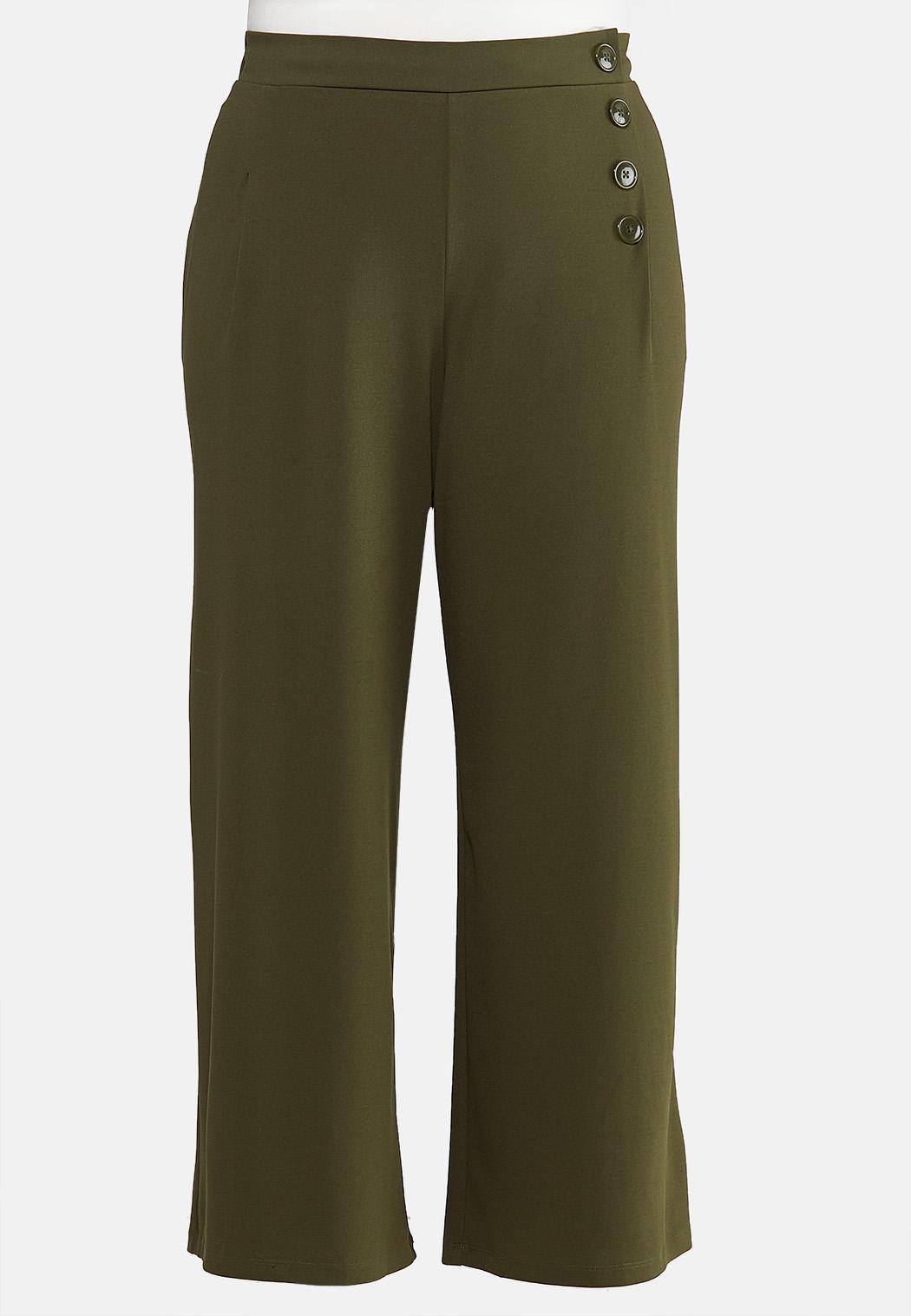 Plus Petite Wide Leg Button Pants
