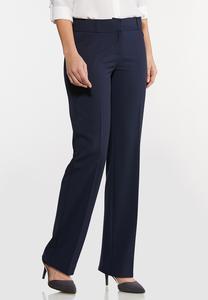 Solid Trouser Pants