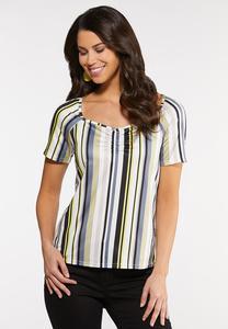 Plus Size Sweetheart Stripe Top