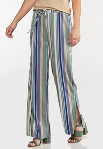 Textured Stripe Pants