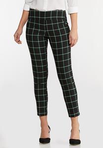 Windowpane Plaid Pants