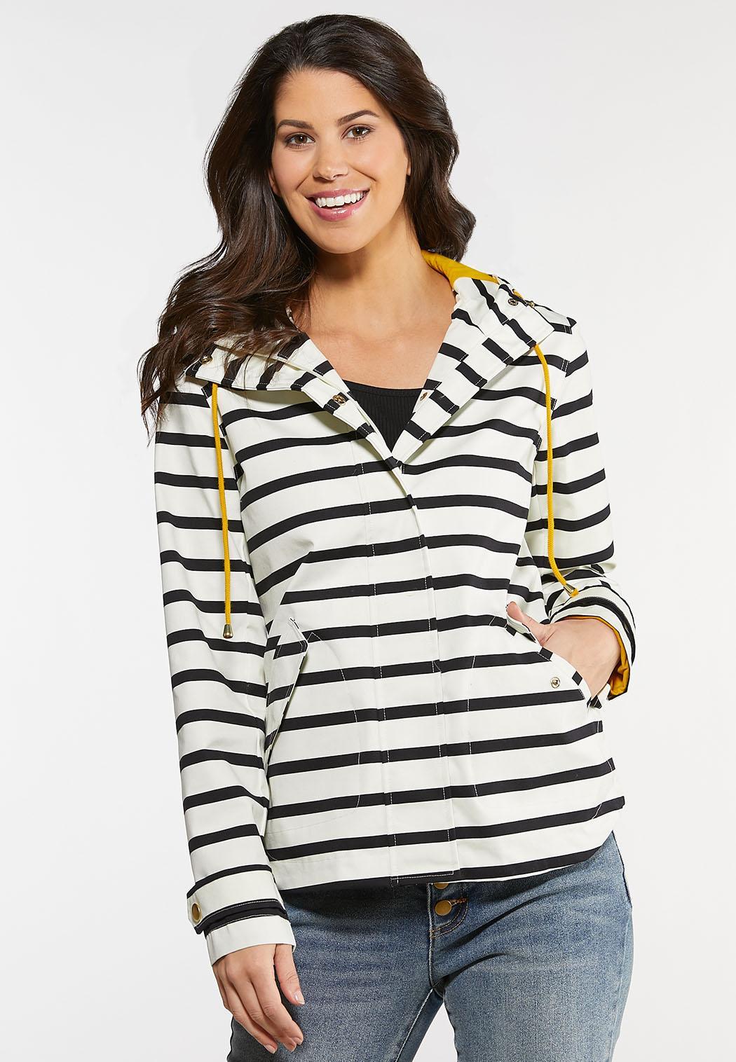 Stripe Rain Jacket