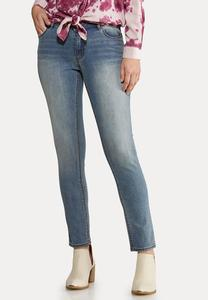 Petite Faded Skinny Ankle Jeans