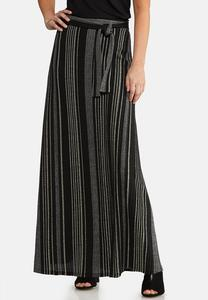 Petite Ribbed Knit Maxi Skirt