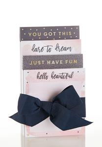 Uplifting Memo Pad Set