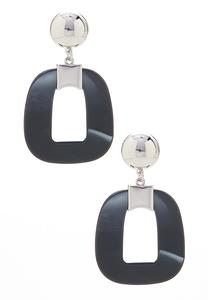 Oval Lucite Earrings