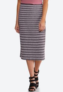 Plus Size Tweed Pencil Skirt