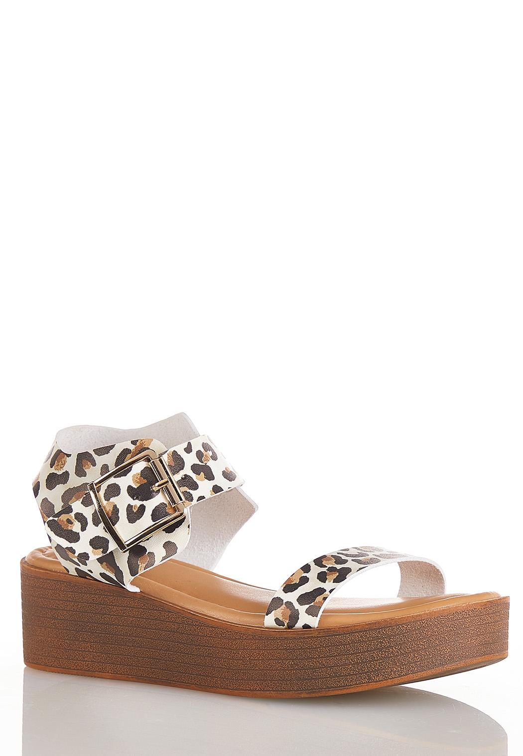 Leopard Flatform Sandals