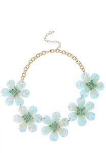 Lucite Flower Necklace