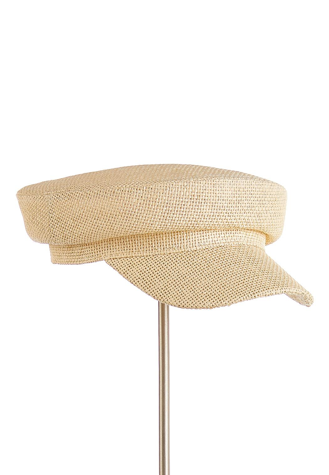 Straw Cabbie Hat