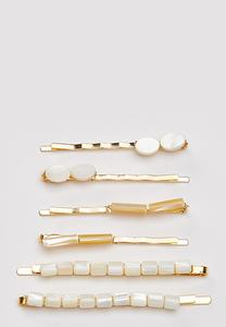 Ivory Shell Hair Pins