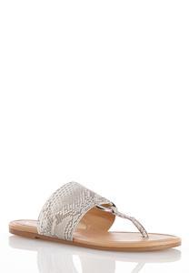 Hoop Detail Thong Sandals